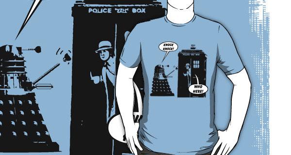 Dr Who exterminates Knock Knock joke T-Shirt