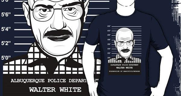 Walter White Mug Shot T-Shirt