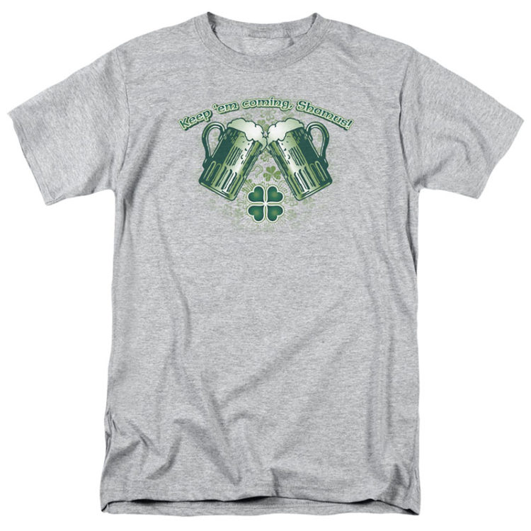 ST. PATRICK'S DAY GREEN BEER GRAY T-SHIRT