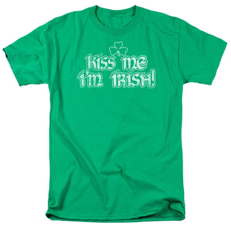 ST. PATRICK'S DAY KISS ME I'M IRISH GREEN T-SHIRT