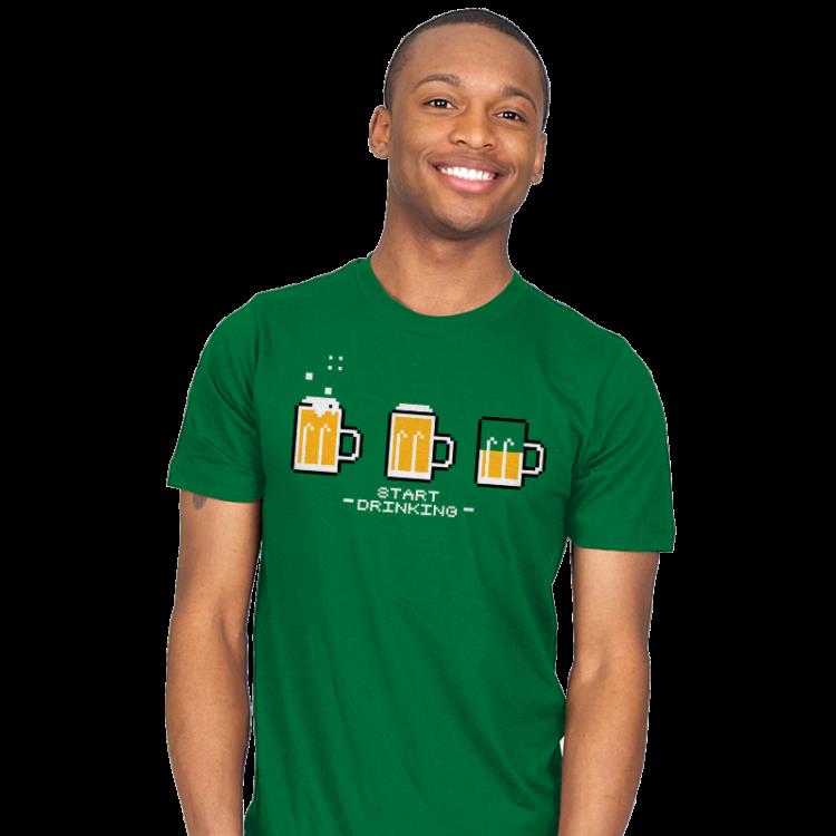 START DRINKING T-Shirt
