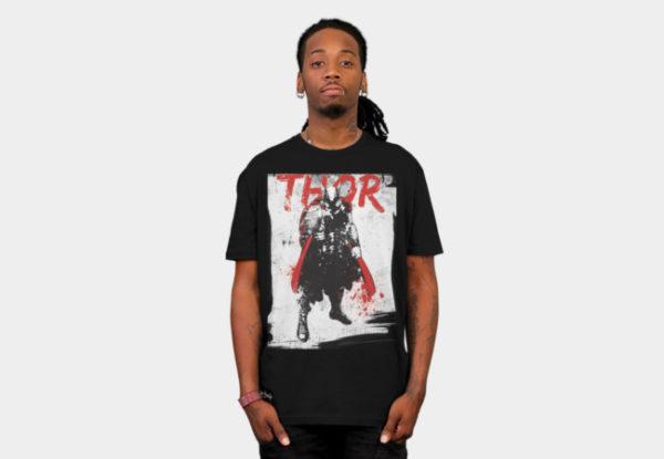 Thor In Grunge T-Shirt