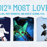 Top 10 Best-Selling T-Shirts of 2012 at Threadless