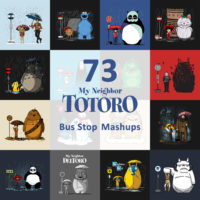 73 My Neighbor Totoro Bus Stop Mashup T-Shirts
