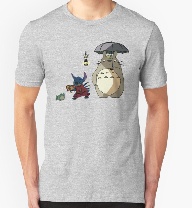 Totoro and Stitch mash-up! T-Shirt