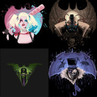 Harantula's Batman Villain Nightmare T-Shirts $14 at TeePublic