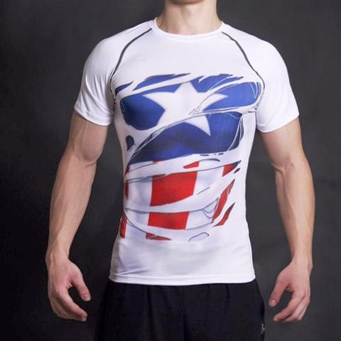 Captain America Alter Ego Compression Shirt