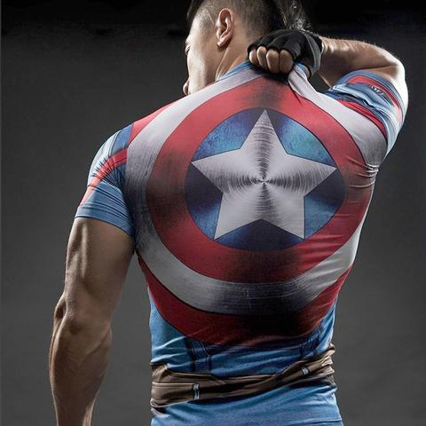 Captain America Compression Shield Shirt