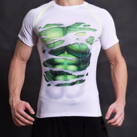 Hulk Alter Ego Compression White Shirt