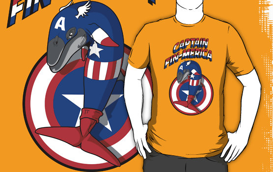 Marvel Whales Captain Fin-merica T-Shirt