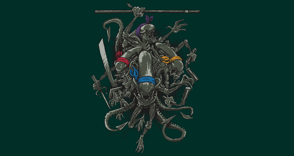 Ancient Ninja Xenomorphs T-Shirt