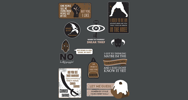 Skyrim Quotes T-Shirt