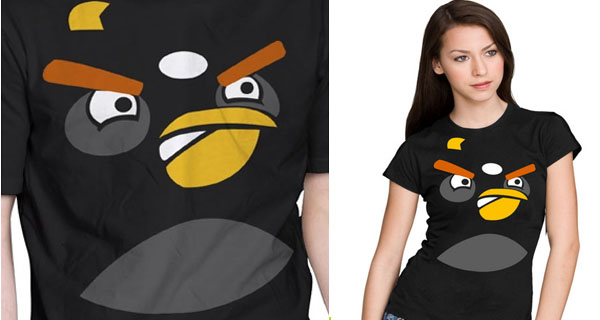 Black Angry Bird T-Shirts