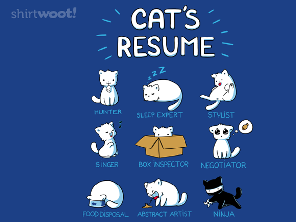 Cat's Resume T-Shirt