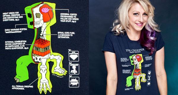 Minecraft Creeper Anatomy T-Shirt