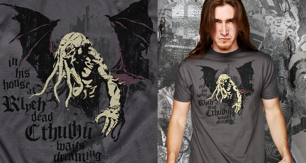 Cthulhu In His House T-Shirt
