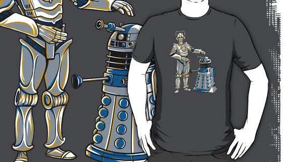 Cyber3PO and R2Dalek T-Shirt