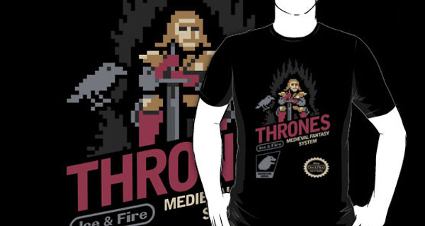 A Game of Ice & Fire 8Bit NES Art Style T-Shirt