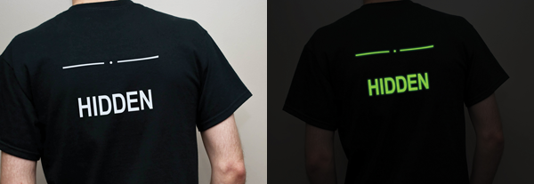 Glow in the Dark Sneak Hidden / Detected T-Shirt