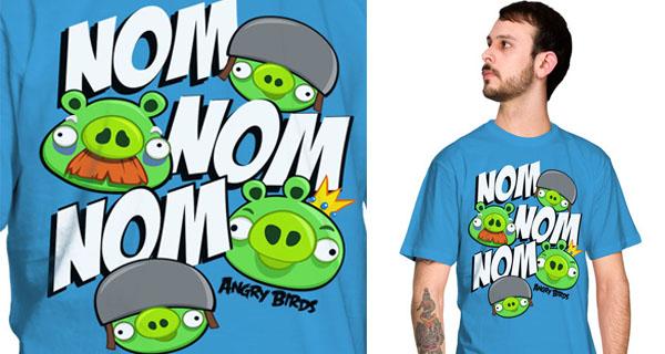 Nom Nom Nom Angry Birds T-Shirt