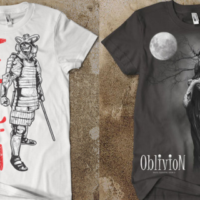 Samurai Skeleton Warrior / Angel of Death T-Shirts
