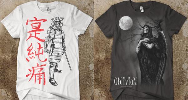 Samurai Skeleton Warrior / Angel of Death T-Shirts