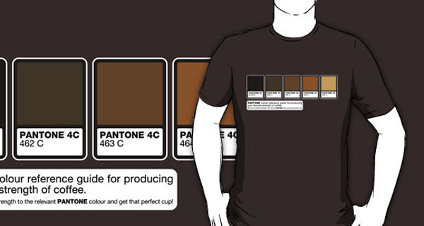 Pantone Color Coffee Strength Reference T-Shirt