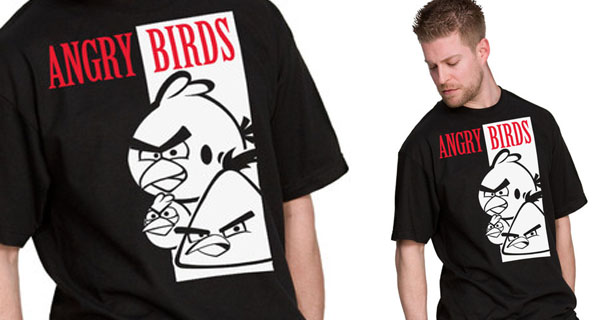 Scarface Angry Birds T-Shirt
