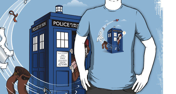 Supermans TARDIS T-Shirt