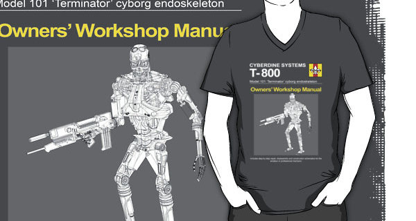 T-800 Terminator Owners Workshop Manual T-Shirt