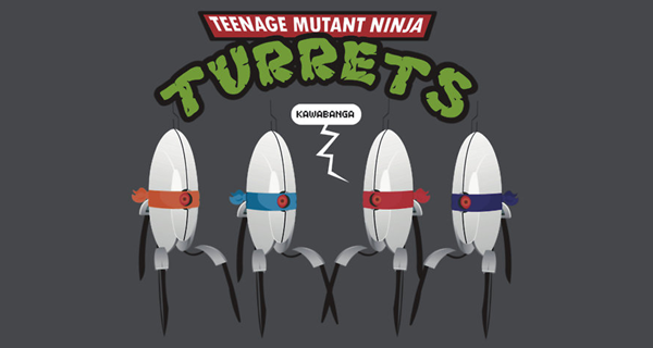 Teenage Mutant Ninja Turrets T-Shirt