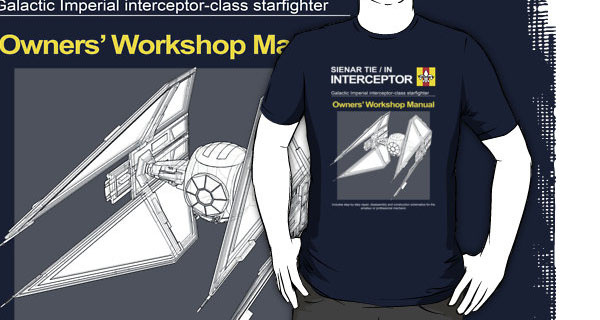 TIE Interceptor Owners Workshop Manual T-Shirt