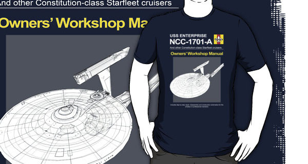 USS Enterprise NCC-1701-a Owners Workshop Manual T-Shirt