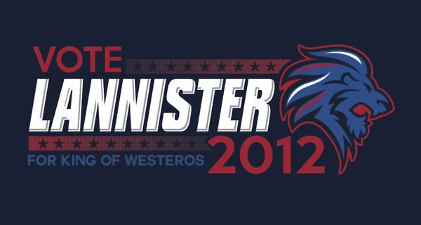 Vote Lannister 2012 T-Shirt